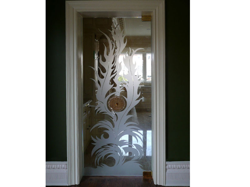 Decorative glass doors cgd glass countertops for Decorative glass for entry doors