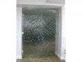 Textured Glass Double Doors