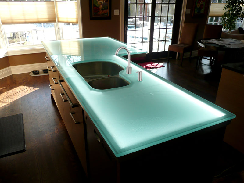 Glass Kitchen Islands Cgd Glass Countertops