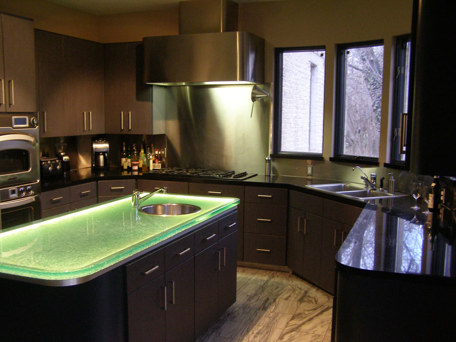 glass kitchen islands cgd glass countertops On ultraglas kitchen countertops