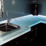 glass countertop textured