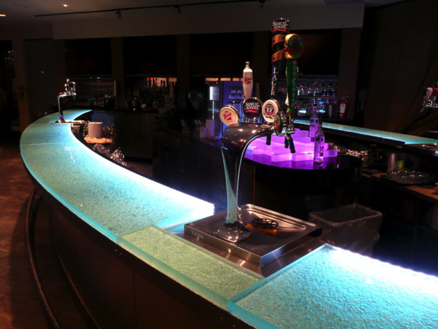 Ordinaire This Dazzling Glass Bar Top Made This Already Good Looking Bar Into A Work  Of Art. The Glass Bar Top Includes Aqua Clear Glass, ¾u201d Thickness, ...