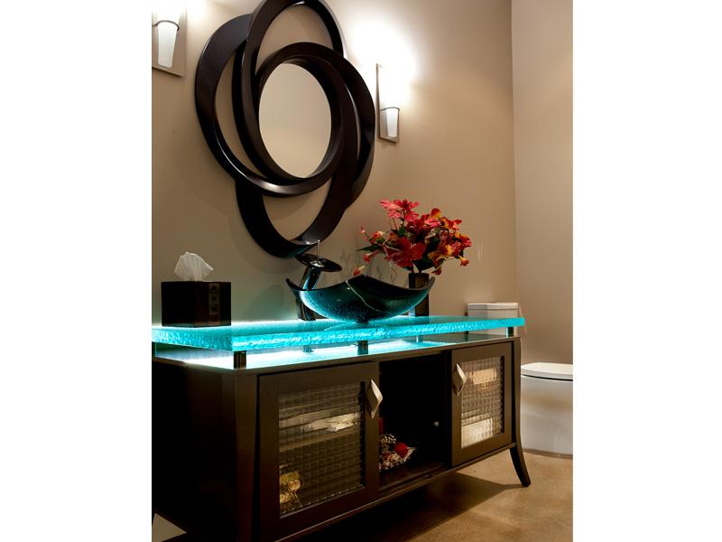 glass bathroom countertops - Custom Bathroom Countertops