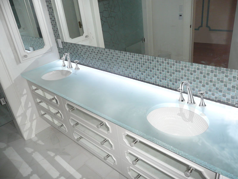 Glass Countertops For Bathrooms By Cgd Glass Cgd Glass