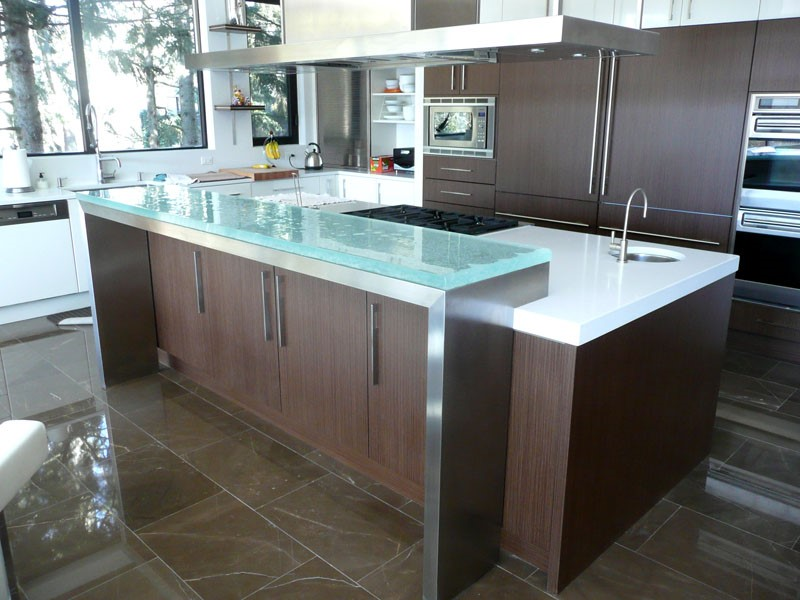 This Is Another Example Of A Steel Raised Gl Countertop The Difference Here That It Using Substrate Which Connected Directly To
