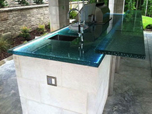 glass countertops for outdoor kitchens cgd glass countertops