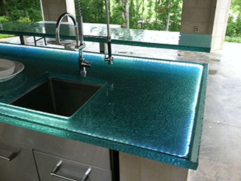 Glass Countertop Options : raised glass countertop these countertops are raised in terms of