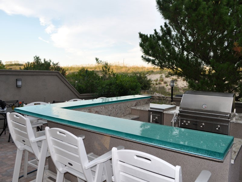 glass countertops for outdoor kitchens - cgd glass countertops