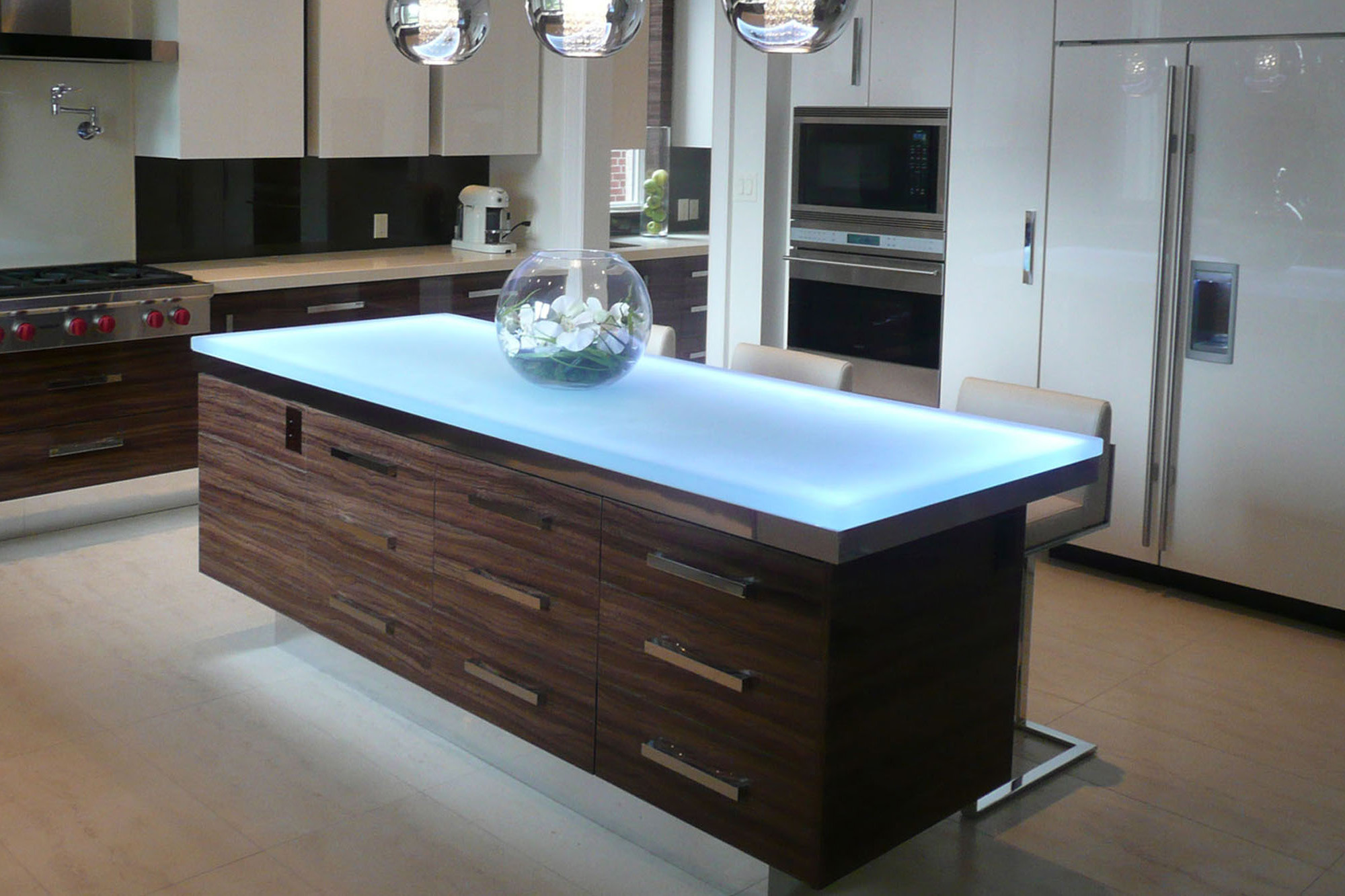 glass kitchen island add a unique touch with custom glass table tops cgd 11887