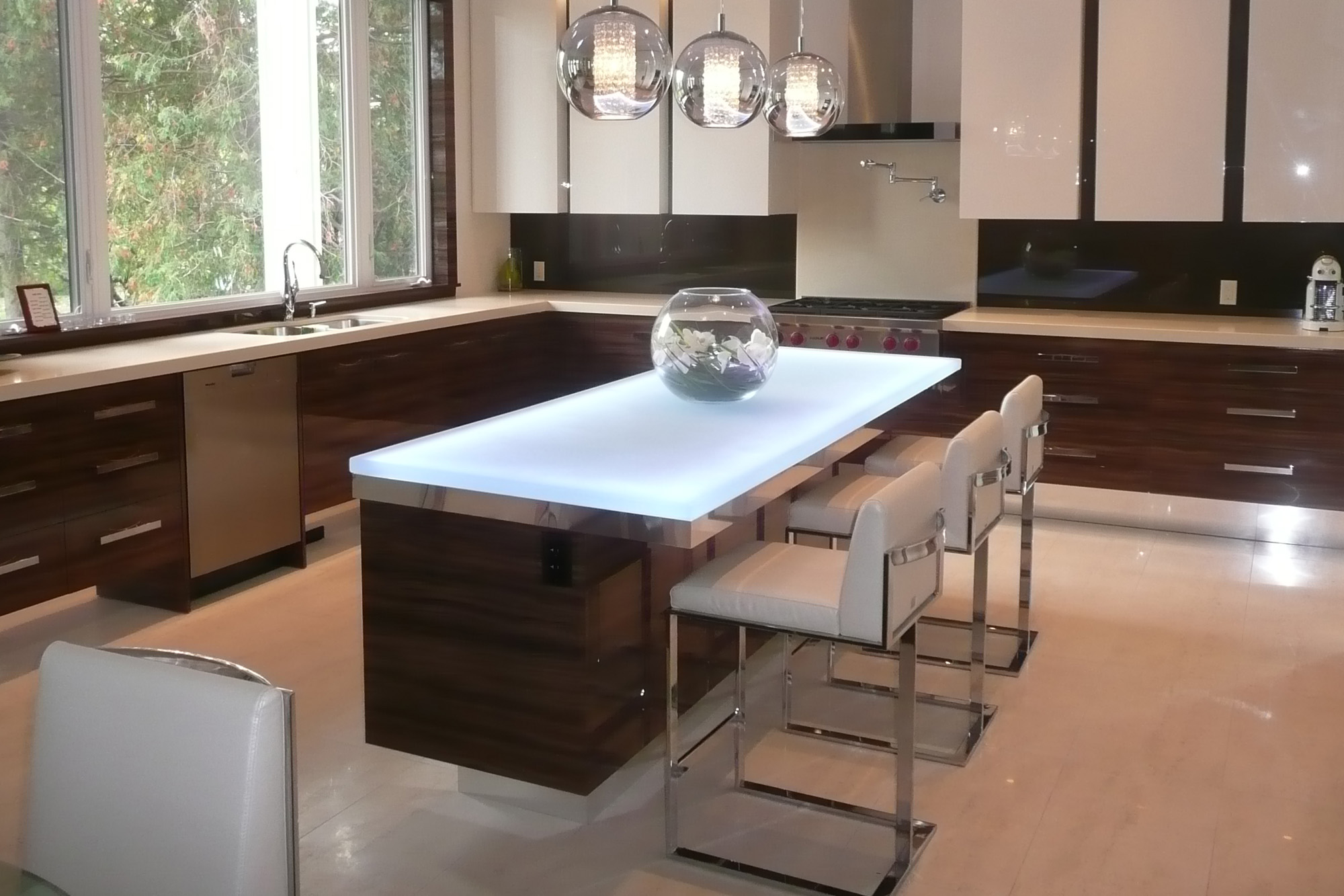 glass kitchen island 6 popular glass countertop types cgd glass countertops 11887